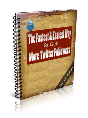 Product picture How to get more twitter followers - Special Report